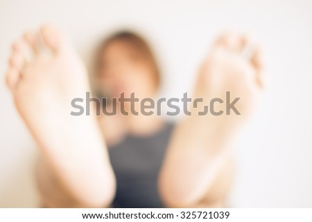 Blur young man unable sleep because of stress of problems - stock photo