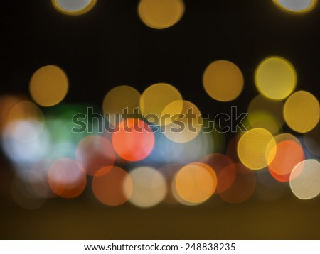 Blured abstract night lights bokeh background