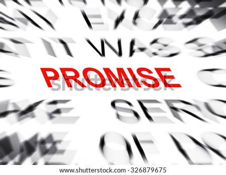Blured text with focus on PROMISE