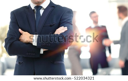 Blurred abstract background of business discussion people group.