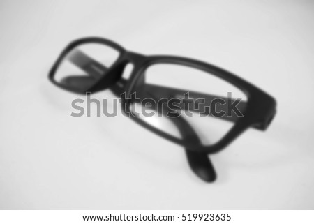 Blurred abstract background of glasses