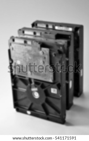 Blurred abstract background of harddisk
