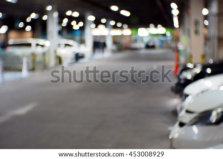 Blurred abstract background of Parking - stock photo