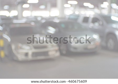 Blurred abstract background of Parking lot - stock photo