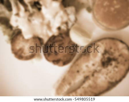 Blurred abstract background of Salmon steak