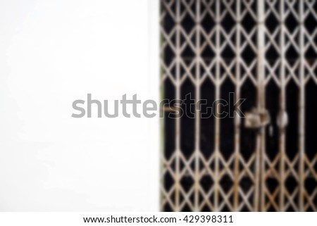 Blurred abstract background of Steel doors and walls