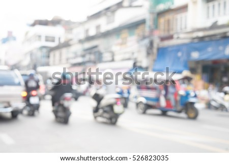 Blurred abstract background of Traffic in city
