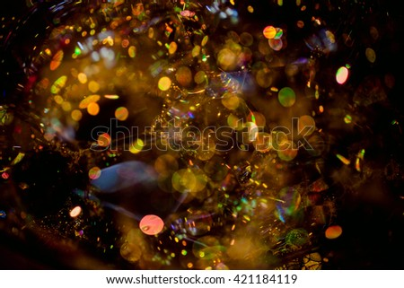 Blurred Abstract colorful soap bubbles with bokeh background