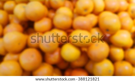 Blurred abstract fresh orange background - stock photo