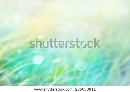 Blurred Abstract grass and natural green pastel background soft focus - stock photo