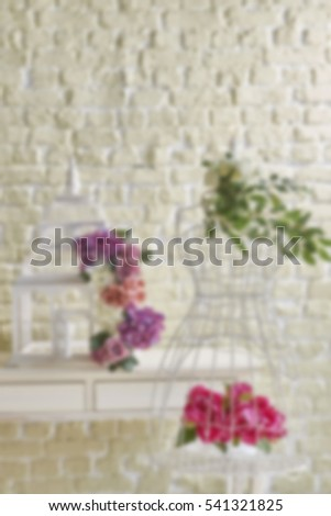 Blurred abstract living room decoration interior for background