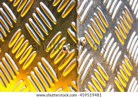 Blurred abstract pattern of steel. - stock photo