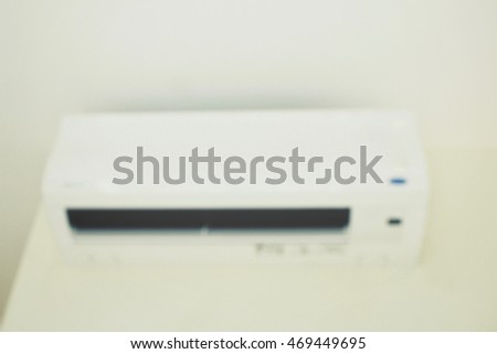 Blurred air conditioner