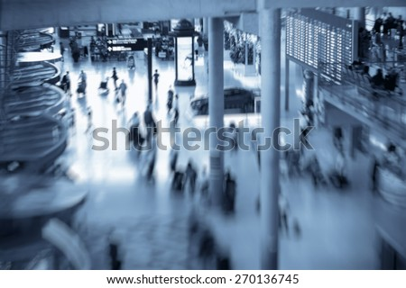 blurred airport background - stock photo