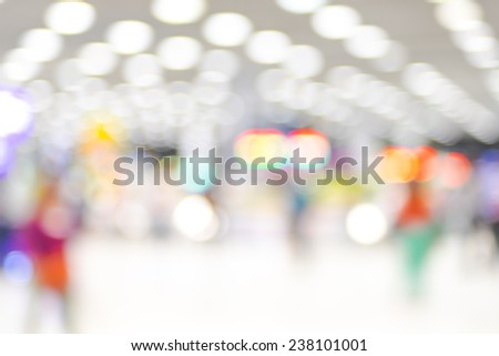 Blurred background : abstract bokeh light at airport - stock photo