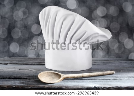 blurred background and cook hat