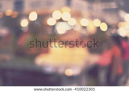 blurred background - blur local market - stock photo