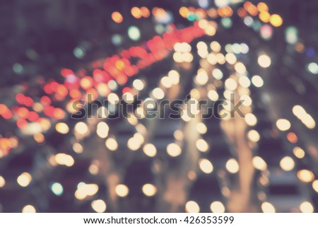 blurred background - blur traffic lights - stock photo
