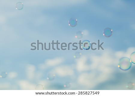 Blurred background Bubbles abstract elements for designers. - stock photo