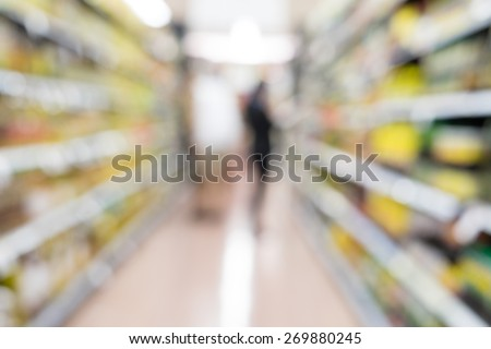 Blurred background for retail shopping - stock photo