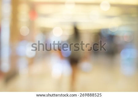 blurred background for shopping mall - stock photo