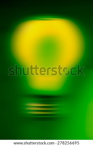 blurred background light bulb, green - stock photo