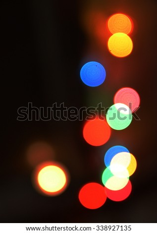 Blurred background lights
