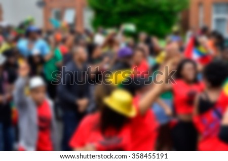 Blurred Background of  Carnival Parade