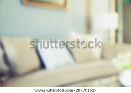 blurred background of cushion on sofa at home - stock photo