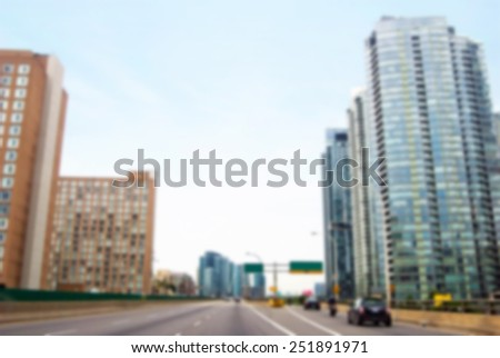 Blurred background of highway in the city. - stock photo