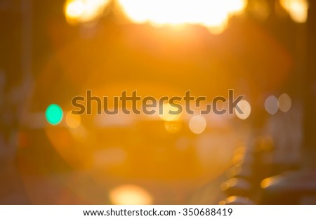 Blurred background of night city with lots of lights reflections. Template for designer's projects - stock photo