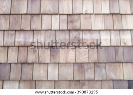 blurred background of wooden roof pattern - stock photo