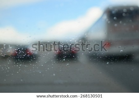Blurred background road - stock photo