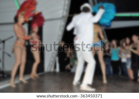 Blurred background - Samba dancers - stock photo
