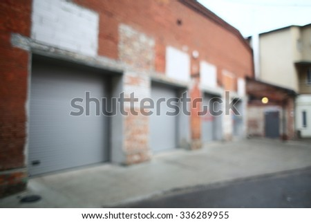 blurred background stock and factory premises - stock photo