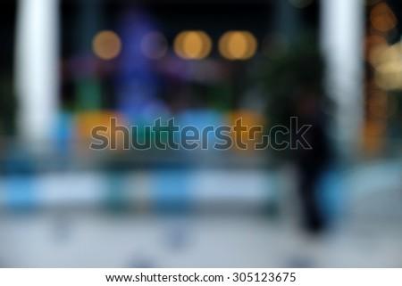 Blurred background store - stock photo