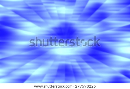 Blurred background with radial rays in shades of blue and green - stock photo