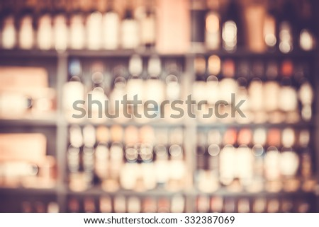 Blurred background with restaurant blur interior - stock photo