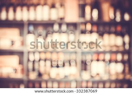 Blurred background with restaurant blur interior - stock photo