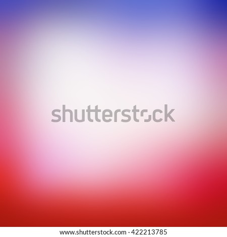 blurred background with smooth texture and bright colors of red white and blue - stock photo