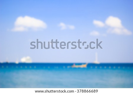 blurred backgrounds of sea with sunlights.blur backdrop concept.instagram filter tone color colors.colorful of blue cyan wallpaper.holiday weekend concept idea.shores and coastline beach landscape. - stock photo