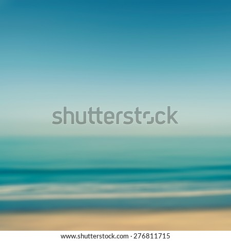 Blurred beach and ocean for background - stock photo