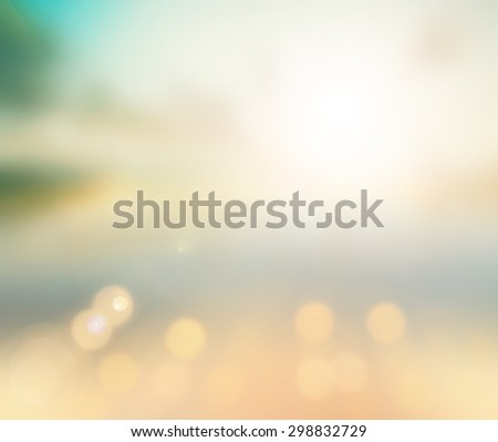 Blurred beautiful nature background.  World Mental Health Day concept. - stock photo