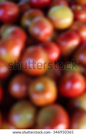 Blurred blackground made from Tomatoes on the market