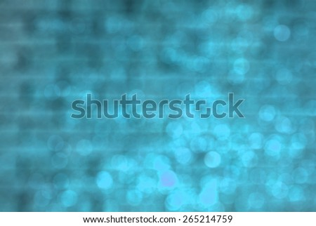 blurred blue brick wall texture background - stock photo