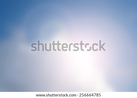 Blurred Blue sky and sunlight - stock photo