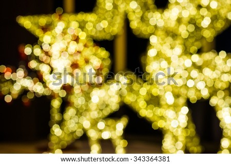 blurred Bokeh light of star in night time - stock photo
