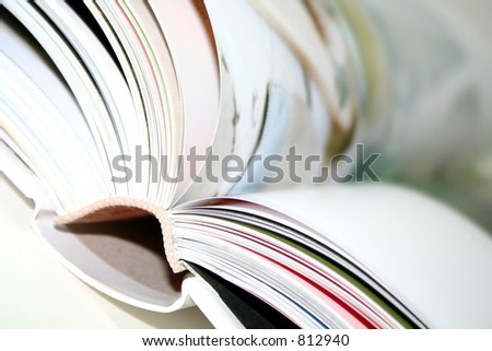 Blurred book closeup - stock photo