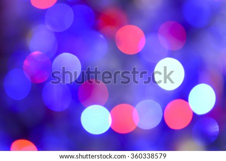 Blurred christmas lights background. - stock photo