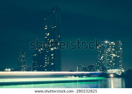 Blurred city background with boken. blur backgrounds concept - stock photo